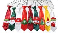 New 30pcs Christmas Pet Supplies Santa Snowman Pet Dog Neckties Large Dog Neckties Ties Elastic band Adjustable Large ties