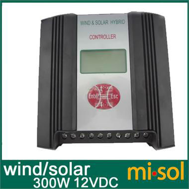12VDC input 300W Hybrid Wind Solar Charge Controller, Wind Regulator, Wind Charge Controller hybrid wind solar charge controller 600w regulator 48vac input wind charge controller