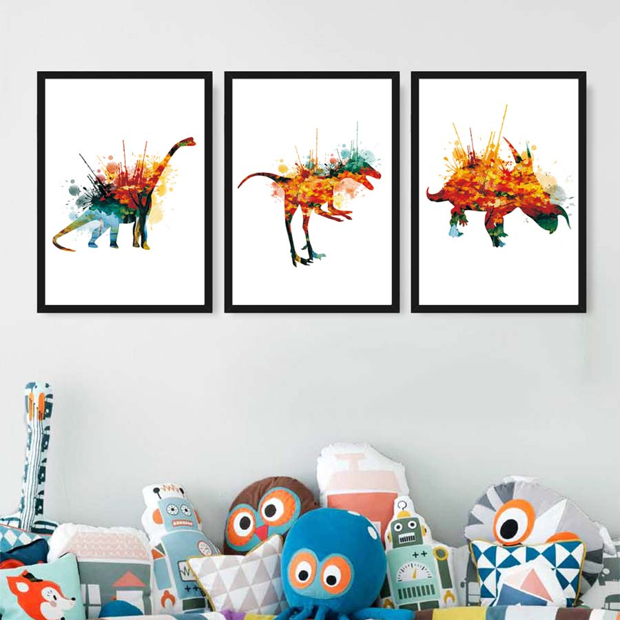 Watercolor Birds Painting Wall Home House Deco Room Kid Art Photo Poster A4