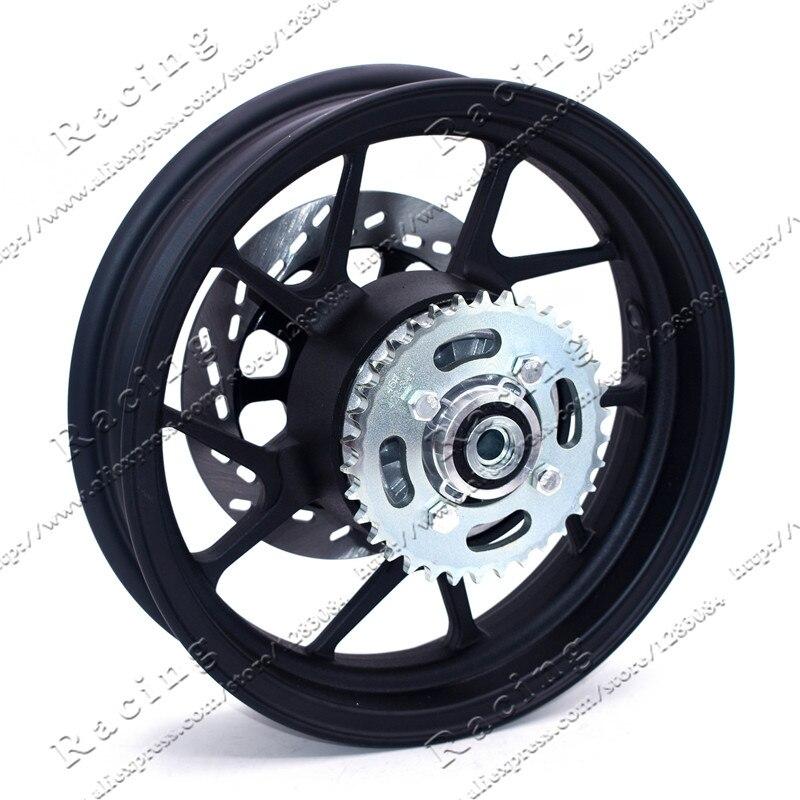 2.75-12 pouces avec pignon arrière #428-34 dents et jante de roue à vide plaque de disque de diamètre 200mm pour moto Dirt Pit Bike - 2