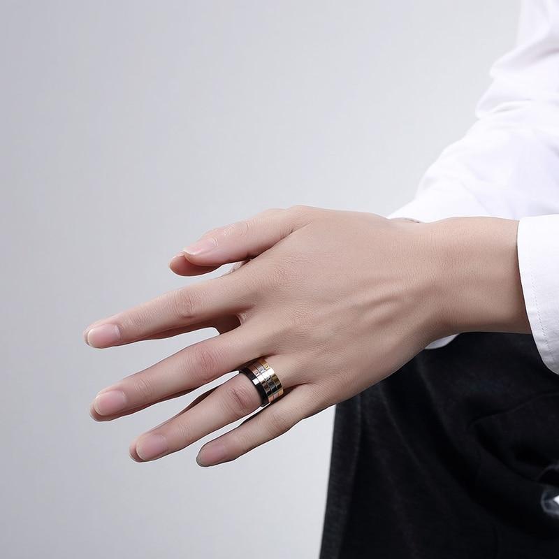 4 kom / set 316L Titanium prstenovi od nehrđajućeg čelika za kul - Modni nakit - Foto 6