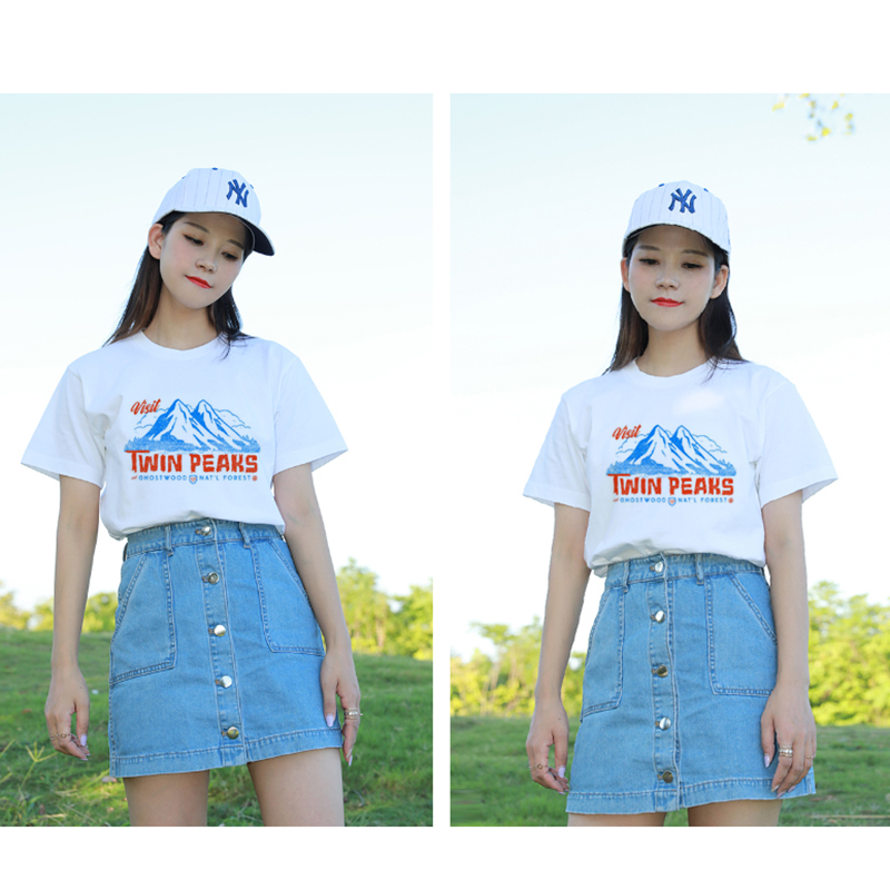 1ab79c6c2 90s Style Twin Peaks 2018 Fashion Women Summer Grunge Cute Graphic Tee  Casual tshirts Short Sleeved Harajuku Tops Tees Plus Size-in T-Shirts from  Women's ...