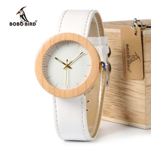 Relogio feminino BOBO BIRD 남성과 여성 시계 나무 시계 쿼츠 시계 나무 선물 상자 relojes mujer 로고 수락