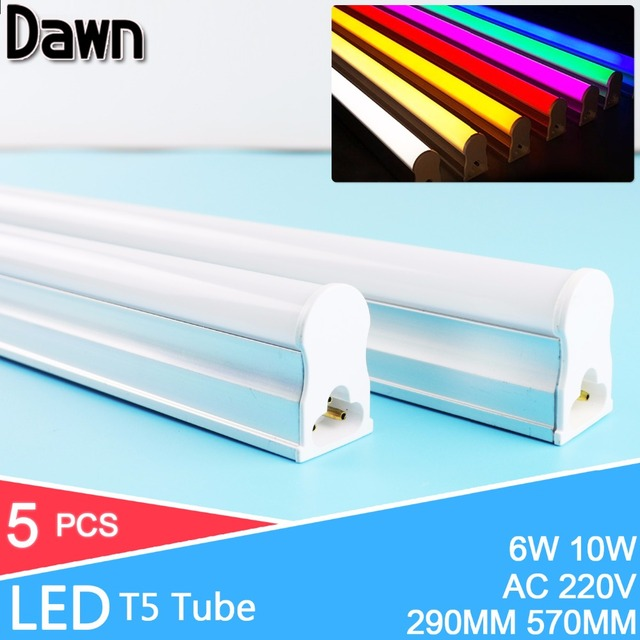 5Pcs/Lot 2ft 60CM LED Tube 10W LED T5 Tube Lampada LED 220v 240v 600MM 2835 5730 SMD LED Bulbs Lights Lamps lampe fluorescente