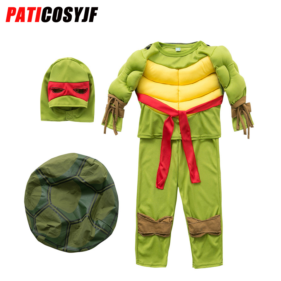 Carnival Marvel Superman Cosplay Superhero Kids Hulk Ninja Turtle Costume Avengers Party Spiderman Robin Halloween Boys Costume