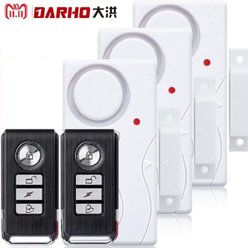 darho large volume home store security door window siren alarm warning system wireless door detector burglar alarm for25pcs Darho 2018 New Door Window Entry Security ABS Wireless Remote Control Door Sensor Alarm Host Burglar Security Alarm System Home