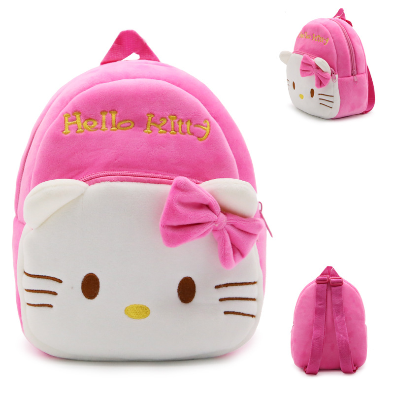 New-arrival-children-plush-backpack-cartoon-bags-kids-baby-backpack-school-bags-Hello-Kitty-bags-for-kindergarten-girls-baby-2