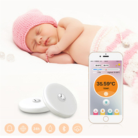 Baby Thermometer Monitor Intelligent Wearable Safe Thermometer Bluetooth 4 0 Smart Baby Monitor Household Futural Digital