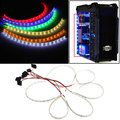 Waterproof  60cm 18 LED 5050 SMD PC Computer Case Flexible Strip Tape Light DC12V