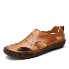 Men  Loafers Shoes Fashion Handmade  Sandals Soft O Moccasins Flats Slipe On Shoes Plus Size 38-44