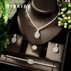 HIBRIDE Exclusive Dubai Gold Plate Jewellery Luxury Cubic Zirconia Necklace Earring Bracelet Party Jewelry Set for Women N 135