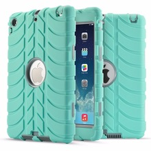 Para Coque Mini iPad 3 2 1 Caso de la Nueva Llegada de Doble Capa resistente De Goma Dura Cubierta de La Caja Protectora para el ipad Mini 1 2 3 Funda