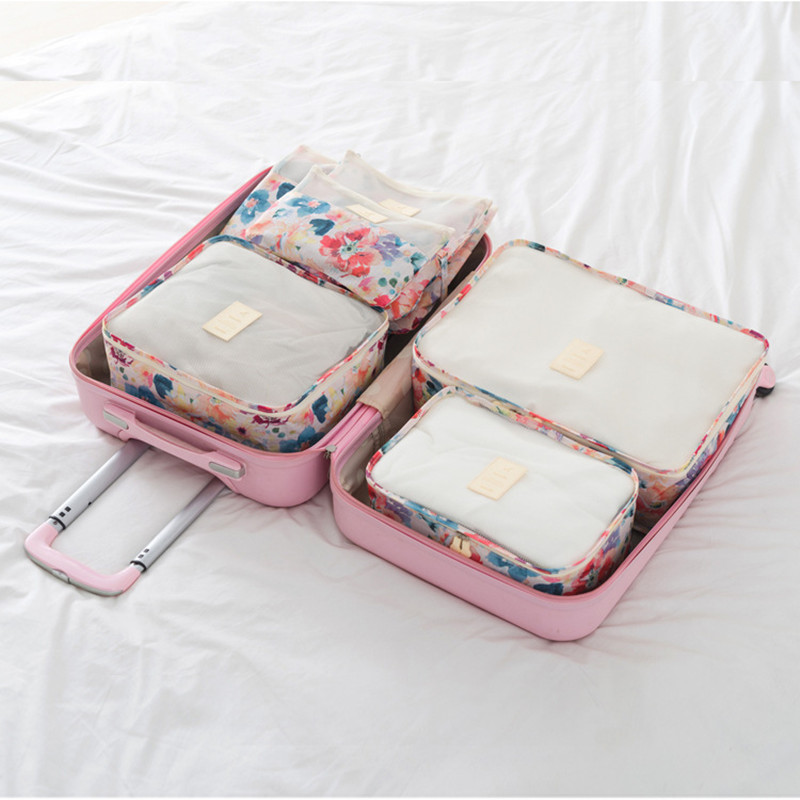 DLYLDQH High Quality 6PCS Travel Storage Bag Set Clothes Tidy Organizer Pouch Suitcase Home Closet Divider Container Organiser in Storage Bags from Home Garden