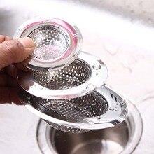 Ronda de alcantarilla pelo coladores de baño filtros de utensilios de cocina de acero inoxidable de drenaje de piso Anti-bloqueo