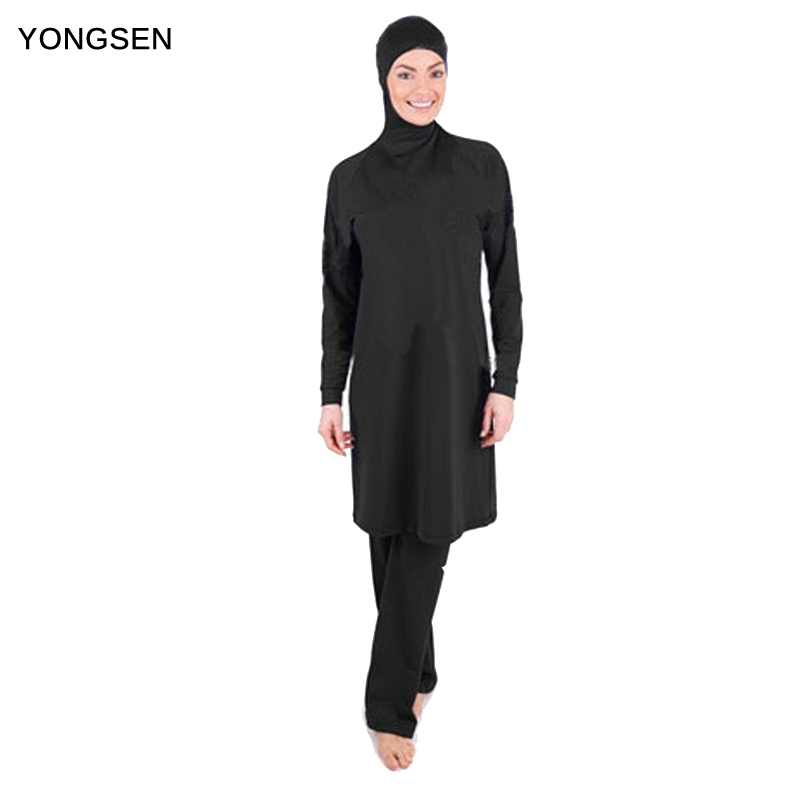 YONGSEN Full Coverage Modest Muslim Swimwear Islamic Swimsuit for Women Arab Beach Wear Hijab Swimsuits Bathing suit Burkinis