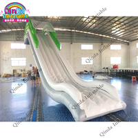 Summer game water toy inflatable dock slides 4m height 2m width floating inflatable yacht slide for boat