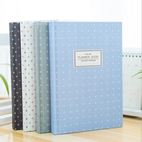Korean Cute Stars Schedule Book Diary Weekly Monthly Planner Organizer Notebook Kawaii Stationery