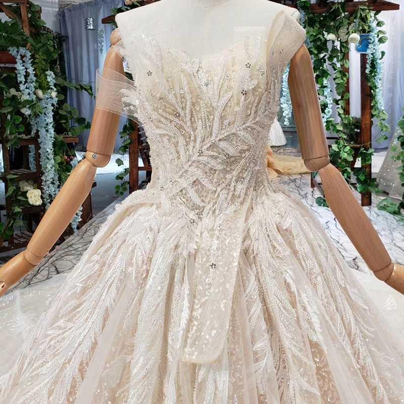 HTL530 מיוחד סטרפלס חתונה שמלת תחרה ללא שרוולים תחרה למעלה ללא משענת הכלה שמלות vestidos דה novia baratos קון envio חנם