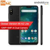 Глобальная версия Xiaomi Mi A2 Lite 3 GB 32 GB мобильный телефон Snapdragon 625 Octa Core 5,84 полный Экран 12MP + 5MP двойной Камера 4000 mAh