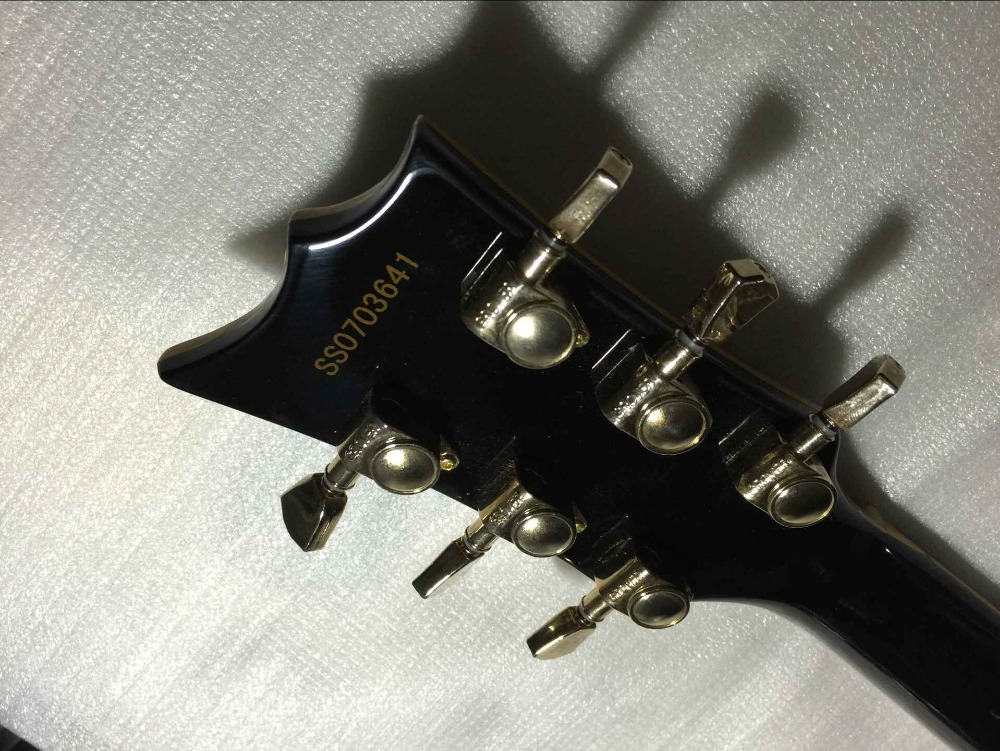 free shipping Top Quality New E S P deluxe ECLIPSE black color Ebony fingerboard electric guitar 1117