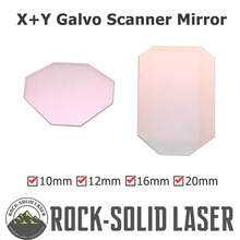 Galvo Scan Head Optics Mirror Quartz X Y Axis for 1064nm Fiber Laser Light Spot Size 10mm 12mm 16mm 20mm 25mm Galvanometer