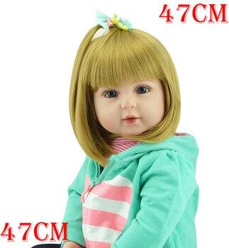 "Bebe boneca Reborn Girl baby dolls 19""47cm handmade silicone reborn baby doll real newborn Bebe alive children gift toy dolls"