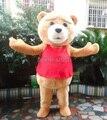 Oso de peluche de TED tamaño adulto de la historieta de Halloween traje de la mascota del vestido de lujo EVA