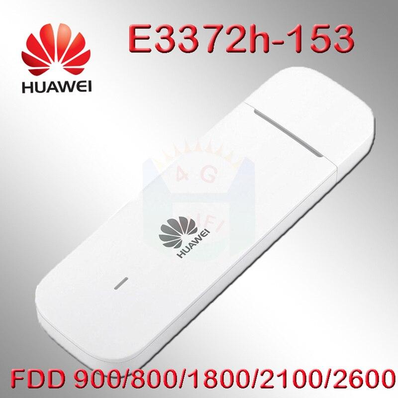 Débloqué Huawei E3372 E3372h-153 4G USB modem 4g clé USB carte de données Mobile haut débit 4g USB Modems 3g 4G Modem LTE Modem