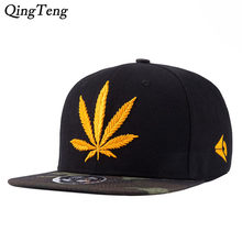 590c31d6e91 2018 New Fashion Golden Weed With Yellow Baseball Snapback Hats Caps For  Men Women Hip Hop Hat Camouflage Cap Visor Sports Caps