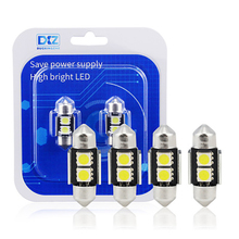 DXZ 2PCS 31mm CANBUS NO Error Auto Festoon Light C5W 5050 LED Car Interior Dome Lamp Reading Bulb White DC12V