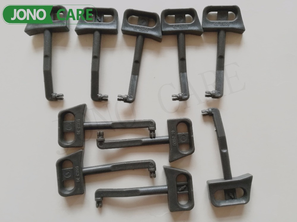 10 sets Chainsaw Carburetor Choke Lever Rod For Husqvarna 61 66 266 268 272 181 281 288 chainsaw exhaust muffler with support gasket plate for husqvarna 61 66 162 266 268 272 chainsaws 503476901 503406402