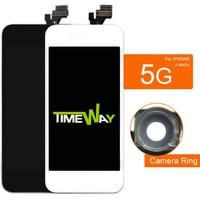 20 قطع الأسود و اللون الأبيض للهاتف 5 جرام شاشة lcd + لا الميت بكسل + كاميرا حامل