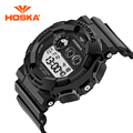Top Brand HOSKA Cool Black Mens Fashion Large Face LED Digital Swimming Climbing Outdoor Man Sports Watches Christmas Boys Gift