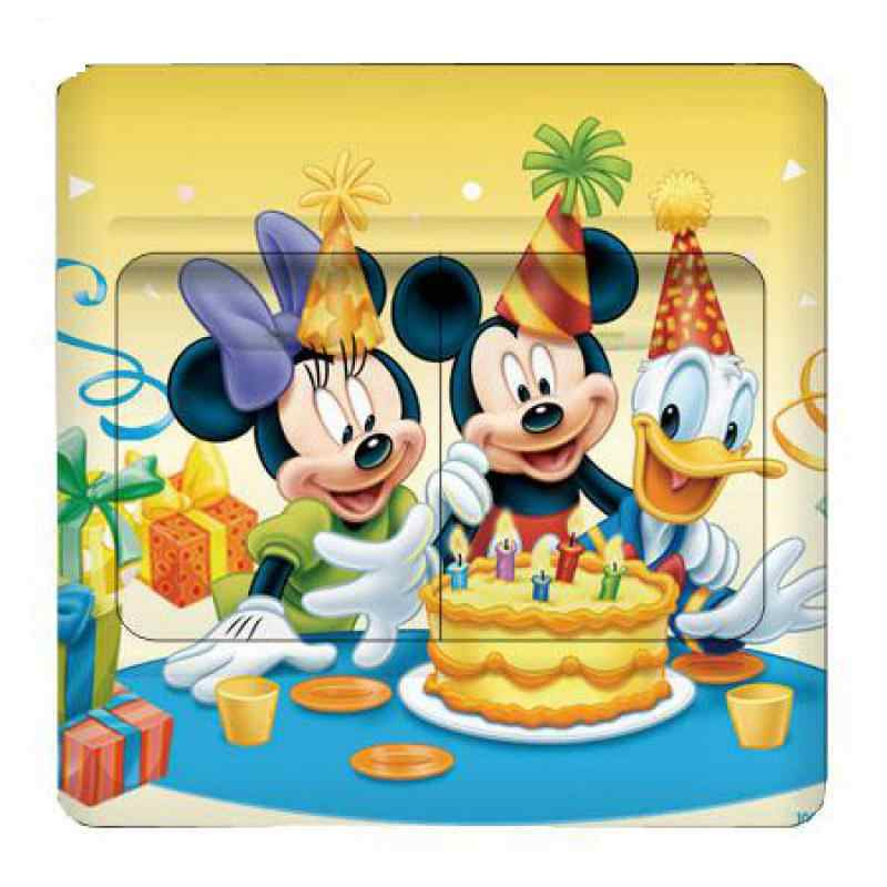 1pcs เด็กห้อง SWITCH ซ็อกเก็ตวาง,Mickey และ Minnie เด็กสติ๊กเกอร์ติดผนังสติกเกอร์ตกแต่ง