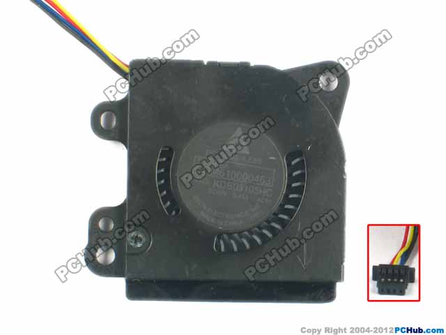 Delta Electronics GDM610000463 KDB03105HC -AC91 Server Laptop Fan DC5V 0.45A 4-wire delta 12038 car booster fan violence server pfr1212dhe 12v 5 2a 12cm fan