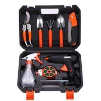 Fine stainless steel gardening tools combination electric glue gun set garden flower hand tool set sale
