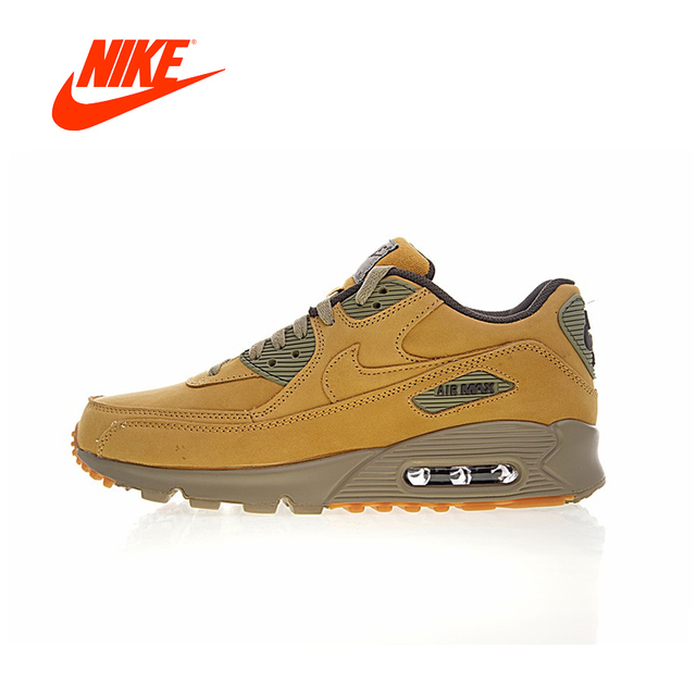 0bdf8feecf13d Original New Arrival Authentic Nike Air Max 90 Premium Men's Running Shoes  Sport Outdoor Sneakers Winter Flax 683282-700