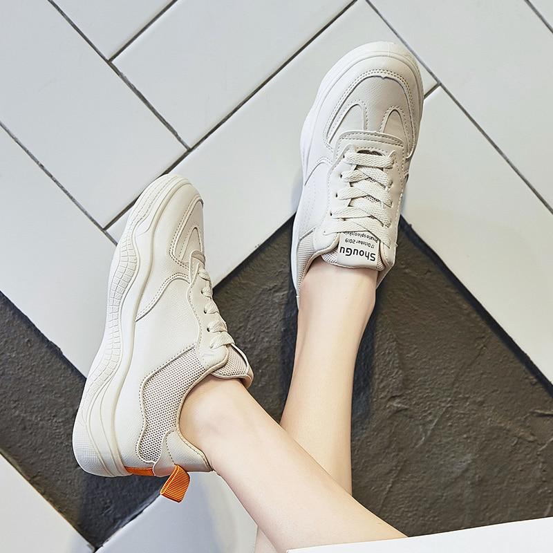 De Casuales Beige Cómodo Mujer Zapatos 2019 Señoras Suave white Nueva Primavera Deporte Moda Planos Las Otoño Ocio Zapatillas La tWnTSHRTq