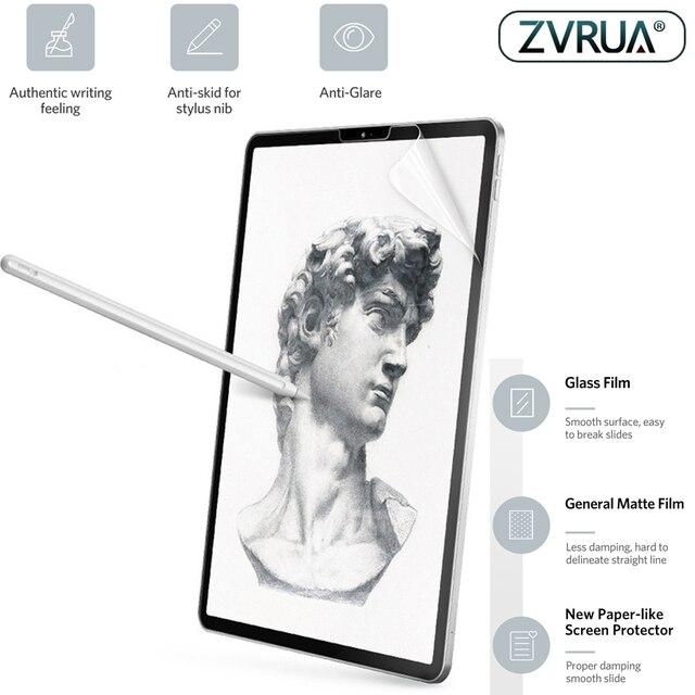 紙のようなスクリーンプロテクターフィルムマットアンチグレア絵画アップル Ipad mini5 9.7 10.5 顔 Id 11 12.9 インチ 2016 2017 2018