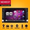 """2016 Новый 6.2 """"сенсорный Экран автомобильный dvd плеер с gps навигация USB SD Bluetooth FM 2din в тире TFT поддержка вход для задней камеры"""