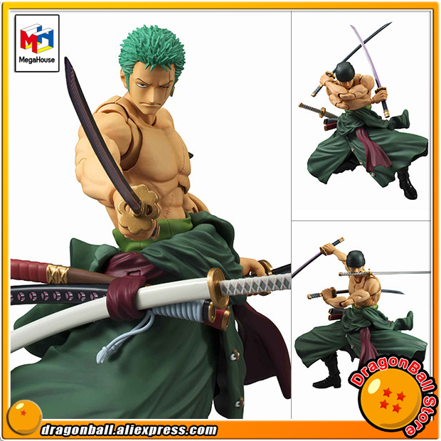 Japan Anime ONE PIECE Original MegaHouse (MH) Variable Action Heroes VAH Complete Action Figure - Roronoa ZoroJapan Anime ONE PIECE Original MegaHouse (MH) Variable Action Heroes VAH Complete Action Figure - Roronoa Zoro