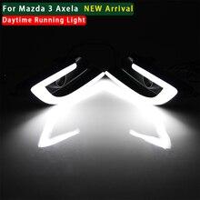 MOTORFANSCLUB автомобиля стайлинг DRL Для Mazda 3 Axela 2017 Дневные Ходовые Огни противотуманные фары крышку лампы 12 В Дневного Света