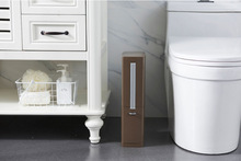 Trash Bin Set with A Brush Bathroom Waste Bucket Narrow Plastic Bulit-in Trash Can Dustbin Garbge Storage Bucket birkenstock thong gizeh kinder from birko flor in mocca with a narrow insole