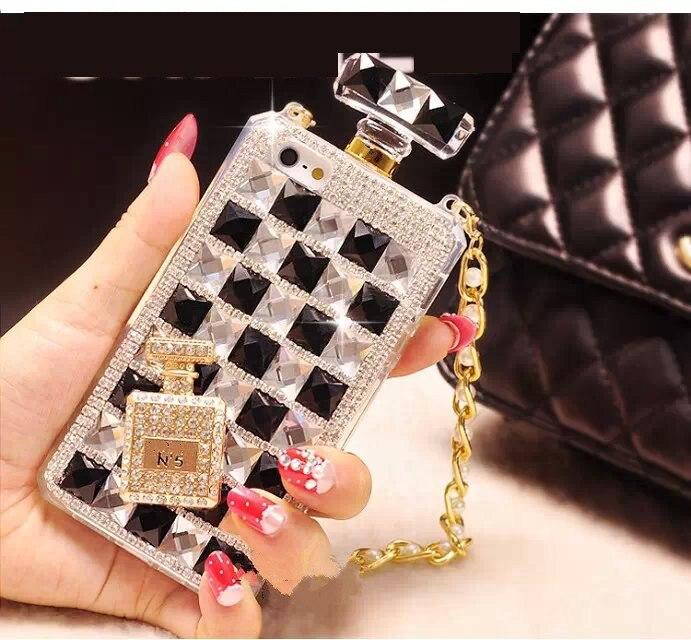 YESPURE Fancy Cover Girl Luxury Parfume Bottle Phone Case for Iphone - Reservdelar och tillbehör för mobiltelefoner - Foto 2