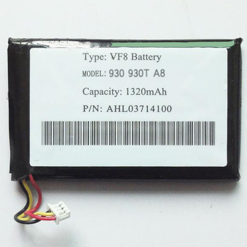 Replacement VF8 AHL03714100 3.7V 1320mAh Rechargeable li Polymer  Battery For TOMTOM GPS G930 G930T A8 DVR E-book MP3 MP4 MP5