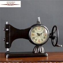 Table Clocks Antique Sewing Machine Vintage Desk Clock Home Decoration Accessories Designer Retro Vintage Clocks