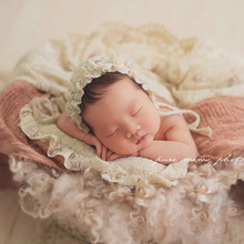 Get more info on the Newborn Props Photography Baby Girl  Hats and Pillows Set Lace  Hats Baby Posing Accessories