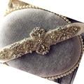 Nueva Perla de La Manera Con Cuentas pretina hecha a mano de La Boda Rhinestone Cristalino de La Flor Nupcial Sash cinturón de correas vestido de Noche