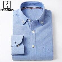 Oxford Men Shirt 2016 NewBrand Clothing Fashion Business Formal Slim Fit Breathable Social Solid Design Casual Men's Shirts X024