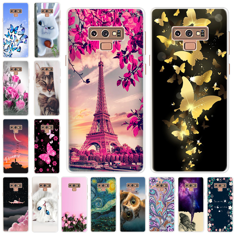 Note 9 For Samsung Galaxy Note 9 Case Cartoon Soft TPU Cases for Samsung Note9 SM-N960 SM-N9608 SM-N9600 SM-N950U Back Cover